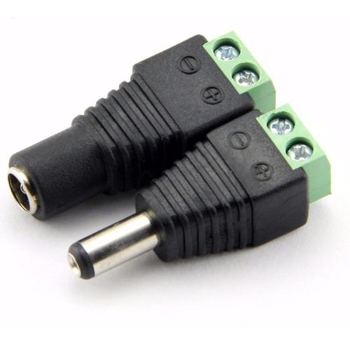 Imagen 1 de 2 de Conector De Energia Hembra - Macho Camaras De Seguridad Cctv