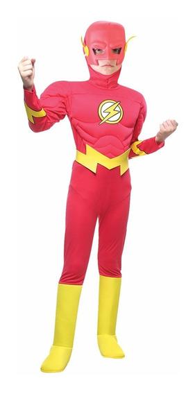 Disfraz Flash Con Musculos Liga Justicia Orig. Sulamericana