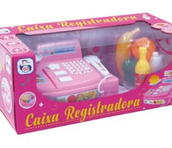 Caixa Registradora Infantil Compra Dinheiro Cartao Meninas.