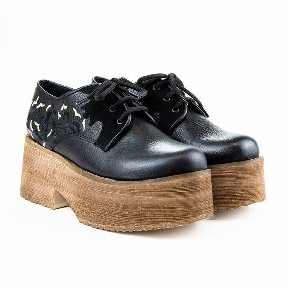 Zapato Montella Acordonado Cuero Y Goma Eva Berlin