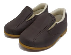 Sapato Social Infantil Meninos Marrom Tamanhos Nr. 16 Ao 22