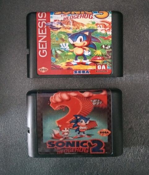Mega Drive Sonic 3 & Sonic 2 (combo 2 Jogos)