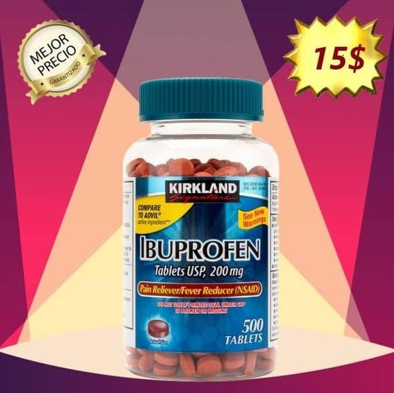 Ibuprofeno 200mg / 500 Tabletas Kirkland