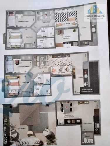 Cobertura Com 2 Dormitórios À Venda, 51 M² Por R$ 359.100 - Santa Maria - Santo André/sp - Co0177