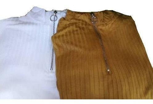 Blusa Tipo Sweater De Cierre Para Dama Talla S, M Y L