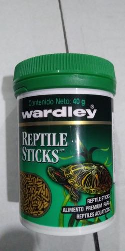 Imagen 1 de 1 de Wardley Reptile Sticks 40 Grs En Bote Alimento Tortuga