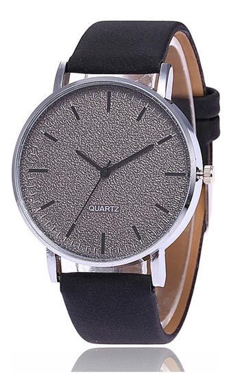 Fashion Matte Grande Dial Relógio Unissex Preto