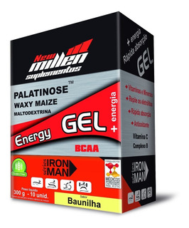 Kit 10x Energy Gel - Iron Man - 10 Sachês - New Millen