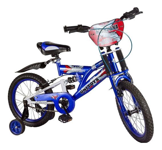 Bicicleta Infantil Aro 16 Masculina Montana C/ Acessórios