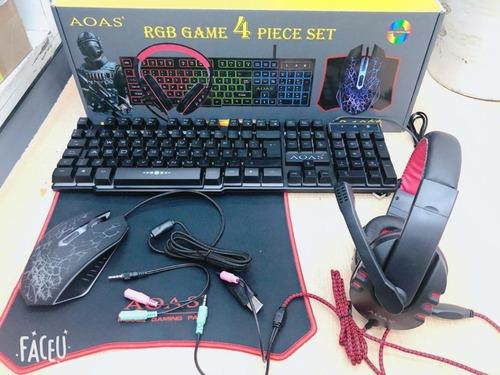 Combo Gamer 4 En 1 Retroiluminado