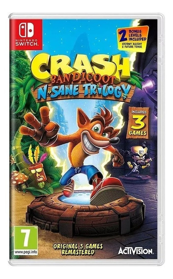 Jogo Crash Bandicoot N. Sane Trilogy Nintendo Switch
