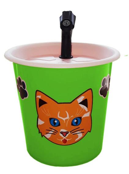 Bebedouro Fonte Para Gatos 2,5l Verde