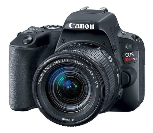 Canon EOS Rebel SL2 18-55mm IS STM Kit DSLR cor preto