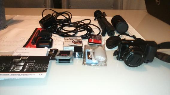 Sony Alpha A6000 Duas Lentes E Muitos Acessórios