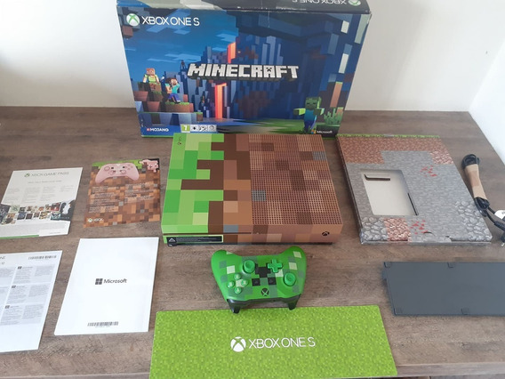 Console Xbox One S Hd 1tb Edição Limitada Minecraft Edition