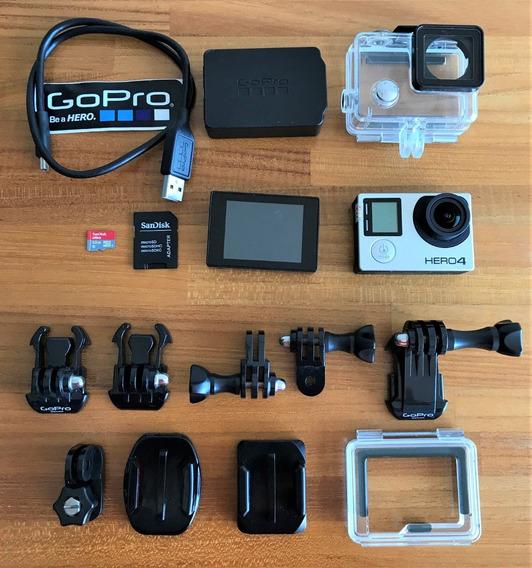 Gopro Hero 4 Black + Cartão 32gb + Monitor | Usada