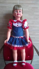 Vestido Boneca Amiguinha Nova Artesanal Clássico