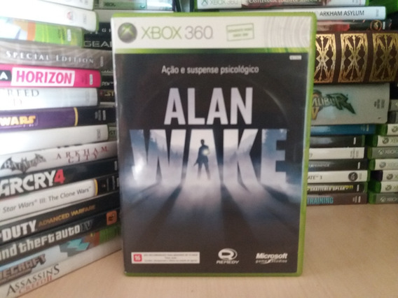 Jogo De Ação E Suspense Alan Wake Xbox 360 Original Mídia