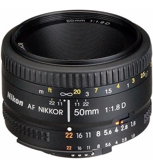 Lente Nikon Af Nikkor 50mm F/1.8d Nova Com Garantia F1.8