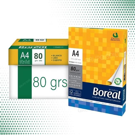 Resmas A4 Boreal 80gr Papel Blanco 21cm X 29,7 Cm 500 Hojas