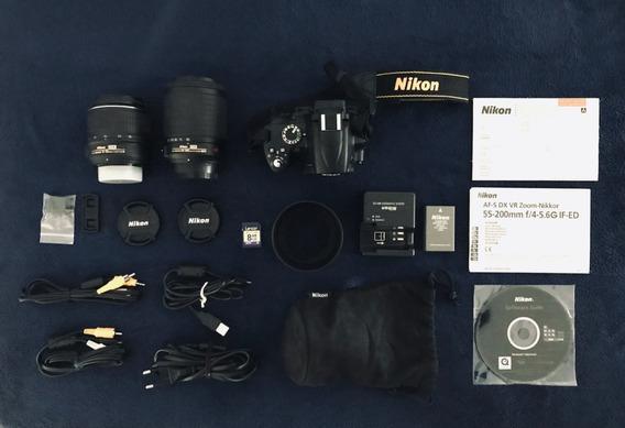 Kit Câmera Nikon D5000 + 2 Lentes + Acessórios