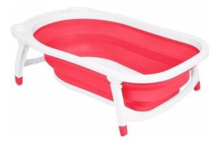 Bañera Bañadera Plegable Bebe Avanti Compacta Babymovil Rosa