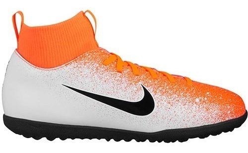 Tenis Futbol Niño Nike Ah7345-801 Naranja 21-24 S4