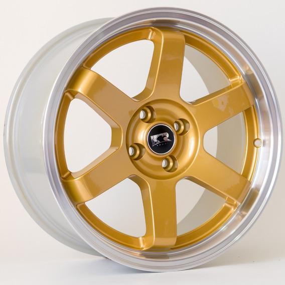 Roda Te37 Kr K57 / Aro 17x8 / Dourada Diamantada (4x100)
