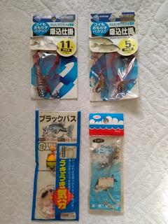 Kit C/ 4 Acessórios Antigos Para Pesca Japão - Ver Descrição