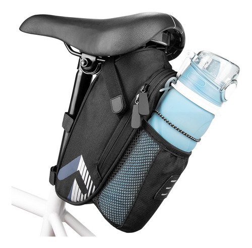 Imagen 1 de 6 de Bolsa Para Asiento Bicicleta Impermeable Reflectante 1.5l