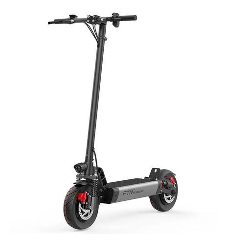 Scooter Eléctrico Plegable S1, Gris, Vel Máx 30 Km/h, Autono