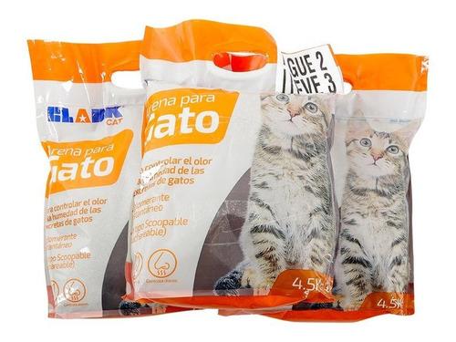 Set De 3 Bolsas Arena Para Gato Clark Cat 4,5kg