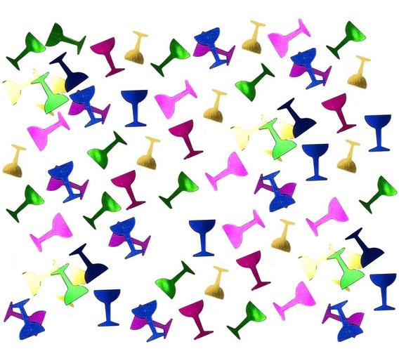 Confetti Para Globos Copas Metalizadas Multicolor X 10gr