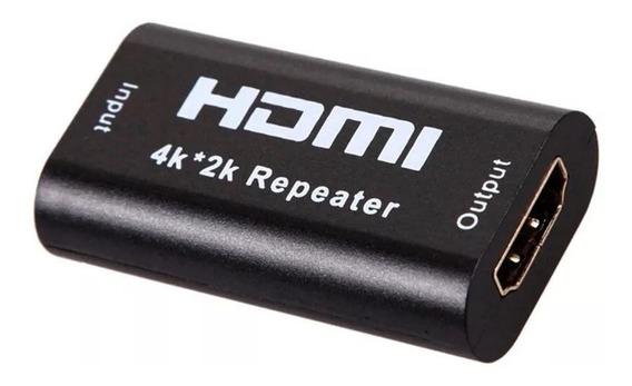 Repetidor Emenda Hdmi 4k 2k Tv Amplificador Sinal Femea