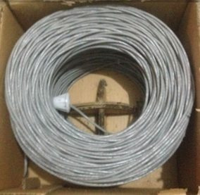 1 X 4000 Bs Cable Utp Cat5e Gris Red Internet Equiprogram