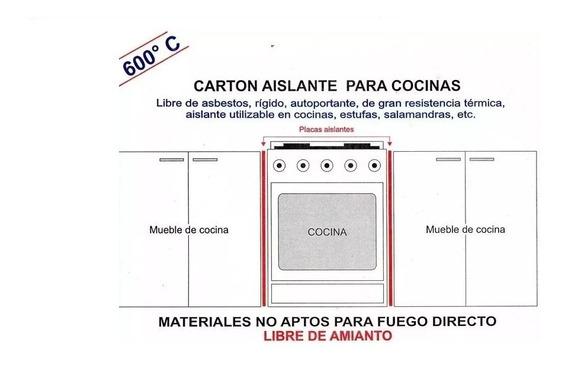 Aislante Horno Cocina 56x86 Libre De Amianto 1200° Ignifuga