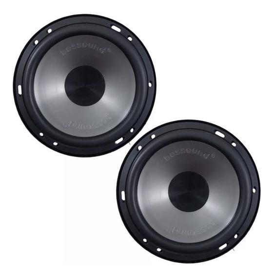 Kit 4 Pares Alto Falante Mid Bass Bossound 200w 4 Ohms