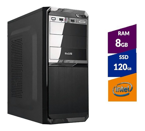 Pc Intel G4930 8ª Ger + Ssd120gb + 8gb Ddr4 2400mhz