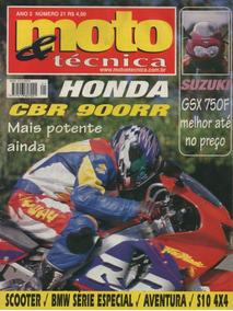 Moto & Técnica N°21 Honda Cbr 900rr Suzuki Gsx 750f S10 4x4