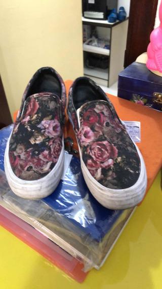 Tênis Vans Feminino Floral Tam 34/35