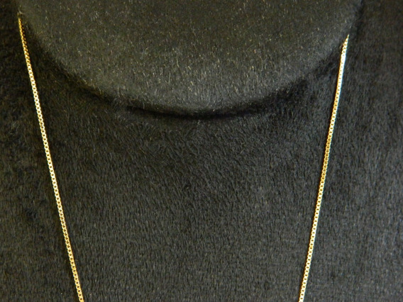 Corrente Veneziana Masculina 80cm - Folheado Ouro 18k