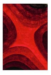 Alfombra Scala 100% Poliester 80x150cm Tonos Rojos 3d