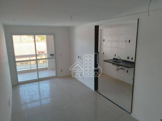 Apartamento Com 1 Dormitório À Venda, 61 M² Por R$ 395.000,00 - Piratininga - Niterói/rj - Ap2642
