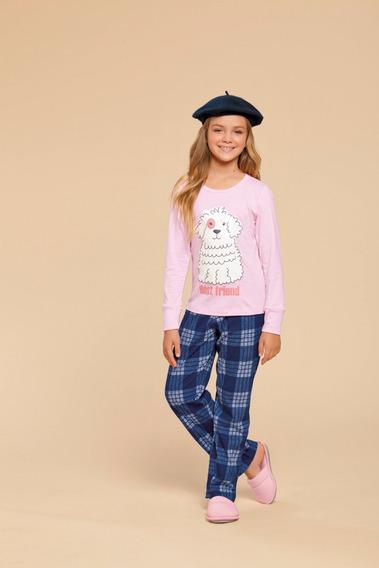 Pijama Manga Longa Infantil Feminino Ref - 014899