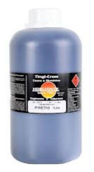 Tinta Para Couro Legitimo/sintético 1 Litro Cor Preto