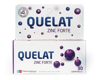 Quelat Zinc Forte Minerales Aminoquelados X 30 Comprimidos