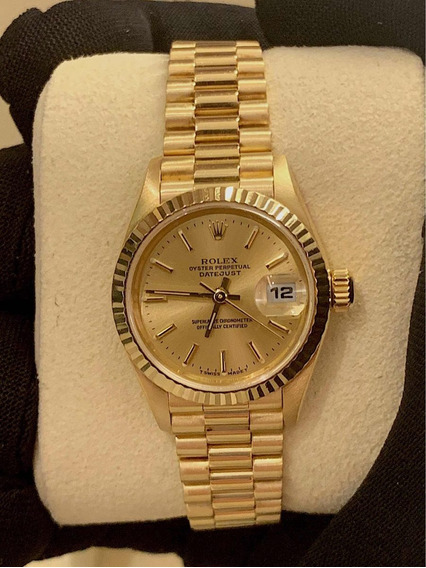 Rolex Datejust President Lady 26mm , Todo Ouro , Impecável !