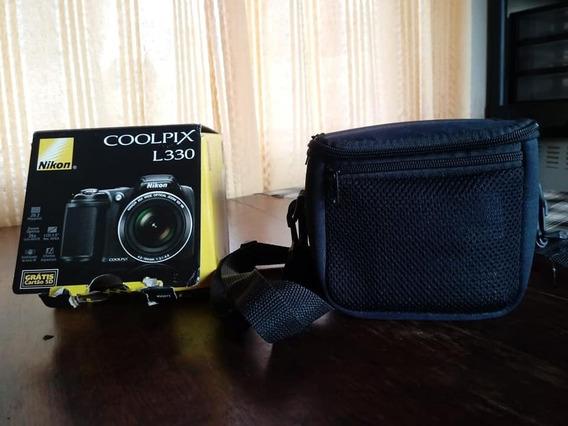 Câmera Profissional Nikon Coolpix L330 + Brinde