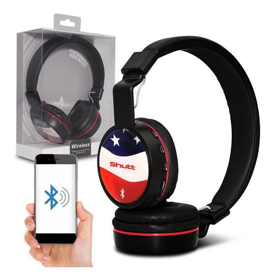 Fone De Ouvido Headphone Eua Wireless P2 Preto Shutt
