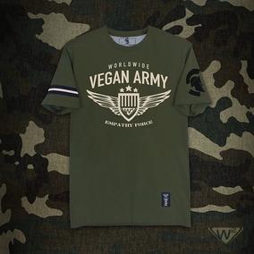 Playera Verde Militar W2 Mod. Ejército Vegano